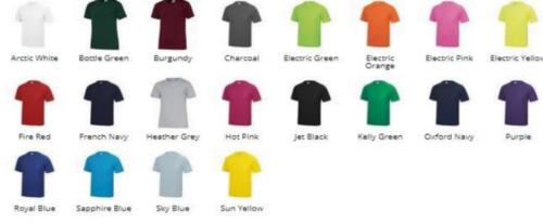 CrossFit Tonbridge TAG Sevenoaks kids tshirt colours