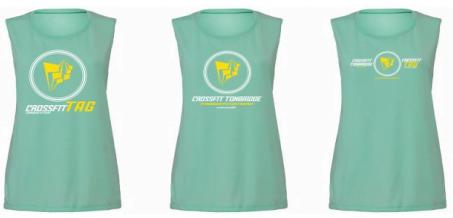 Crossfit Tonbridge TAG dual logo ladies vest style 2